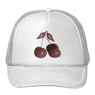 3D Halftone Cherries Retro Red Cap
