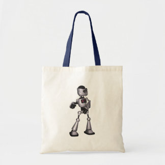 ♪♫♪ 3D Halftone Sci-Fi Robot Guy Dancing Canvas Bags