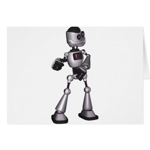 ♪♫♪ 3D Halftone Sci-Fi Robot Guy Dancing Cards
