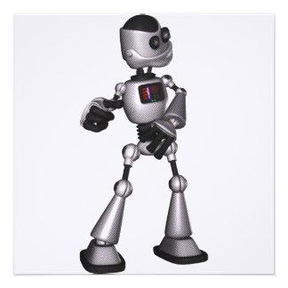 ♪♫♪ 3D Halftone Sci-Fi Robot Guy Dancing Custom Announcements