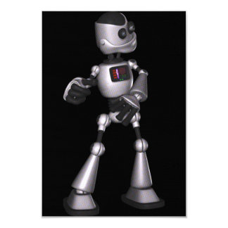 ♪♫♪ 3D Halftone Sci-Fi Robot Guy Dancing Announcement