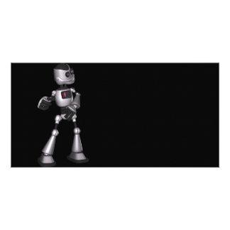 ♪♫♪ 3D Halftone Sci-Fi Robot Guy Dancing Photo Cards