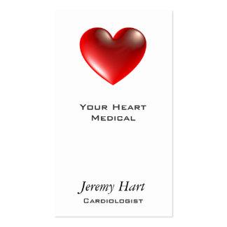 3d Heart / Glass Business Card Template