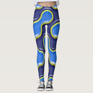 3D High Relief Steely Mojo pattern Leggings