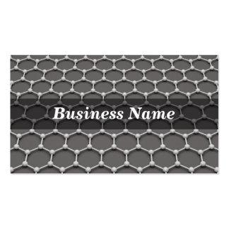3D Honeycomb Molecular Structure Business Card Template