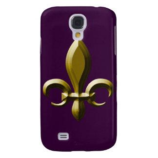 3D Look Gold Fleur de Lis Galaxy S4 Cover