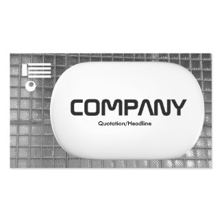 3d Lozenge - Glass Wall Black and White Pack Of Standard Business Cards