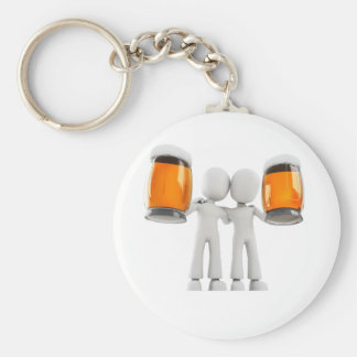3d man and beer key ring