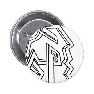 3d maze pinback buttons