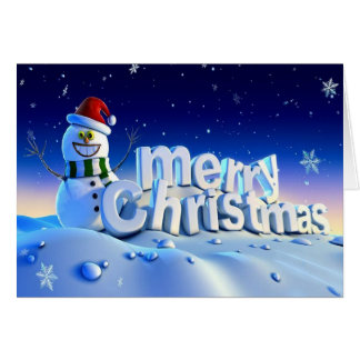 3d merry christmas and happy new year card