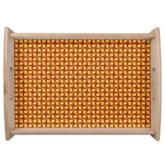 3D Metallic Woven Gold Bars Serving Tray
