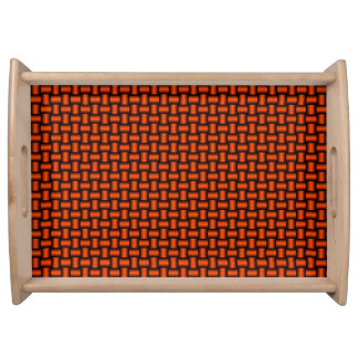 3D Metallic Woven Pipes Serving Tray