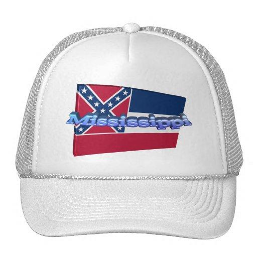 3D Mississippi State Flag Trucker Hat