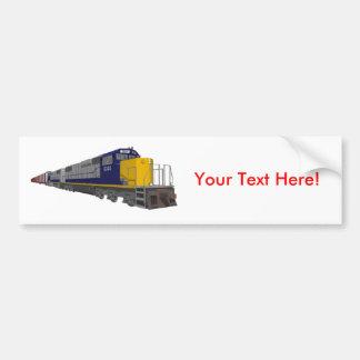 3D Model Freight Train Railroad Bumper Stickers
