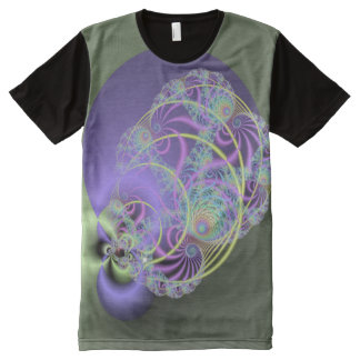 3D Modern Abstract Fractal All-Over Print T-Shirt