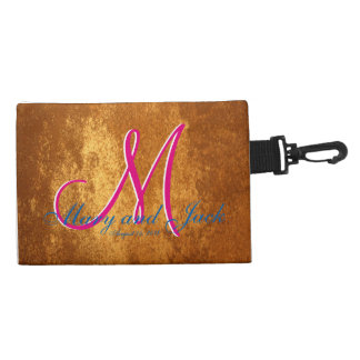 3d Monogram  Bronze Amber Accessory Bags