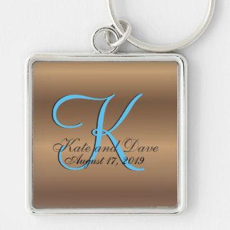 3d Monogram Bronze Key Ring