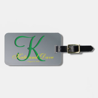 3d Monogram Pewter Luggage Tag