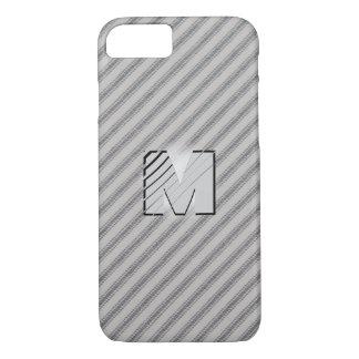 3D Monogram Vintage Gray Cotton Feather Tick iPhone 7 Case