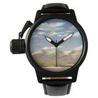 3D Mountain Clock Watch