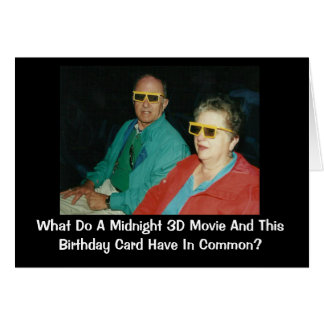 3D Movie Belated Birthday Humour Card