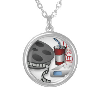 3D Movie Silver Plated Necklace