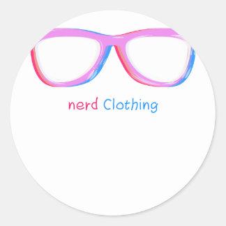 3D nerds Round Sticker