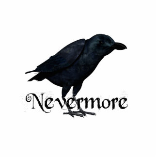 3D Nevermore Raven Standing Photo Sculpture