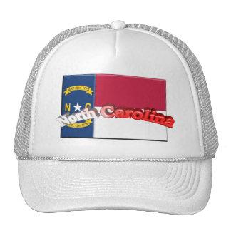 3D North Carolina State Flag Hats