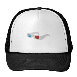 3d of glasses hats