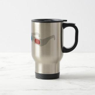 3d of glasses coffee mugs