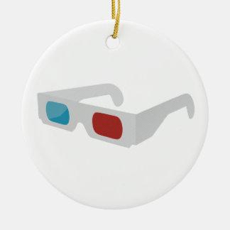 3d of glasses round ceramic decoration