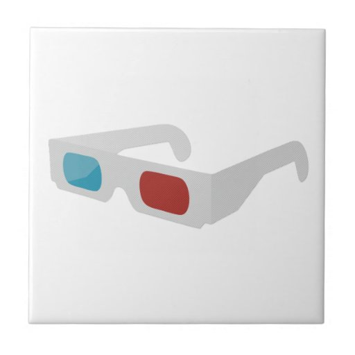 3d of glasses ceramic tile