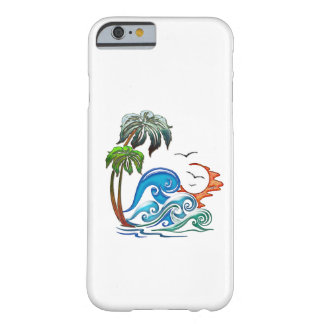 3D Palms, Waves and Sunset Barely There iPhone 6 Case