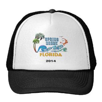 3D Palms Waves Sunset Spring Break FLORIDA Mesh Hats