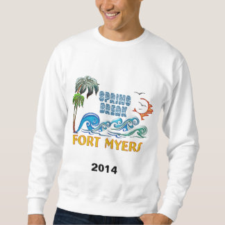 3D Palms Waves Sunset Spring Break FORT MYERS Sweatshirt