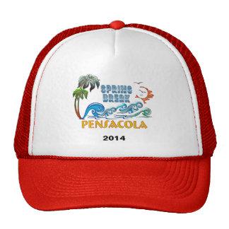 3D Palms Waves Sunset Spring Break PENSACOLA Hats