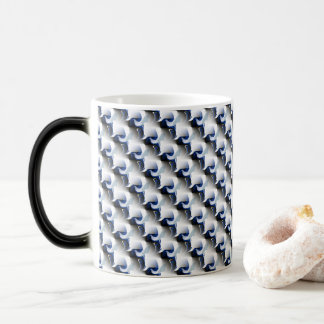 3D Pattern in Blue and Gray Magic Mug