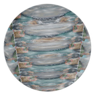 3d Pearl Precious Stone Collection Party Plates