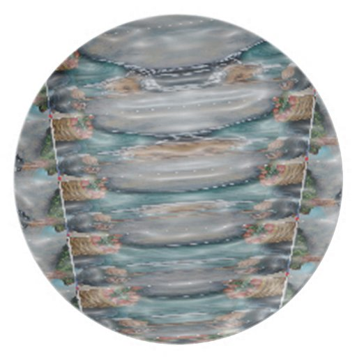 3d Pearl Precious Stone Collection Party Plate