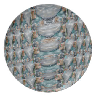 3d Pearl Precious Stone Collection Dinner Plates