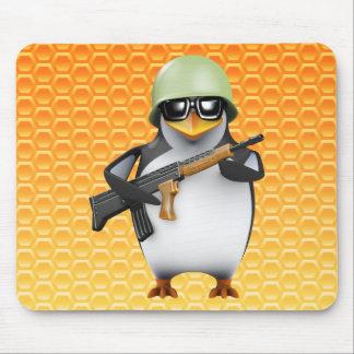 3d Penguin Soldier Advances Mouse Pad