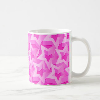 3D pink stars Coffee Mug