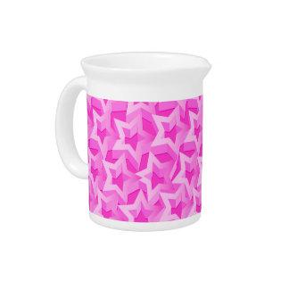 3D pink stars Pitcher