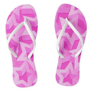 3D pink stars Thongs