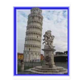 3D PISA TOWER POSTCARD