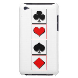 3D playing card suits iPod Touch Case-Mate Case