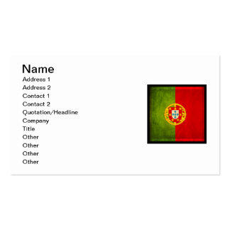 3D Portugal flag Pack Of Standard Business Cards