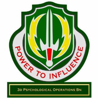 3d Psychological Operations Battalion DUI Standing Photo Sculpture