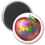 3D Puzzle Apple Fridge Magnets